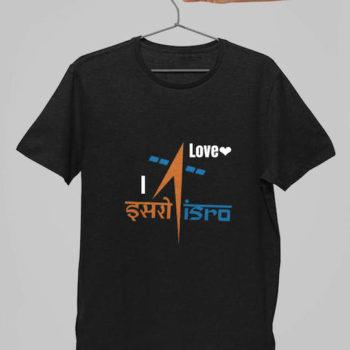 i love Isro tshirt - desicrow