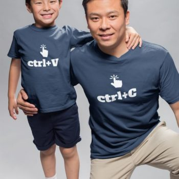 Copy and Paste - Father and son tshirt combo - desicrow.com