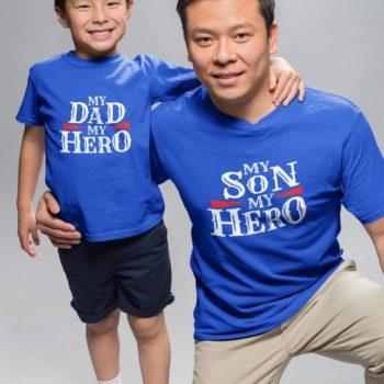 My Dad son Hero - Father and son tshirt combo - desicrow.com