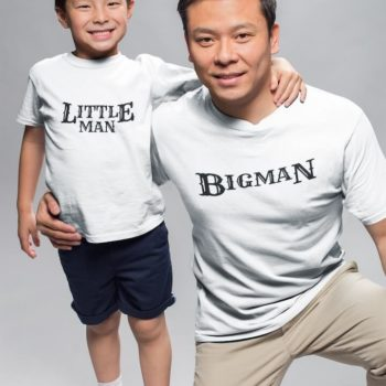 Little Man Big Man - Father and son tshirt combo - desicrow.com